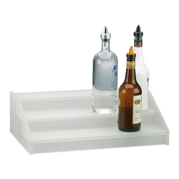 Flaschentreppe aus Acryl mit 3 Stufen, 50x30x15 cm