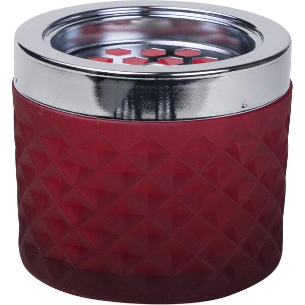 Windaschenbecher Glas, rot