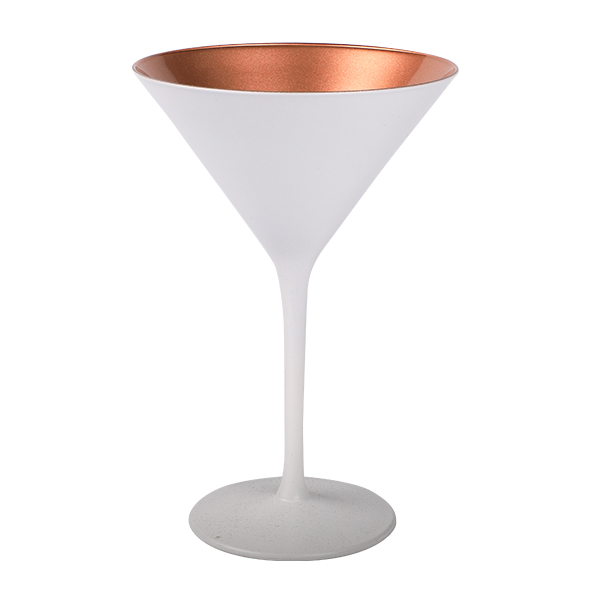 Cocktailschale matt Weiss/Bronze 240ml