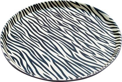 Probar Tablett PP 35,5 cm, Zebra, rund